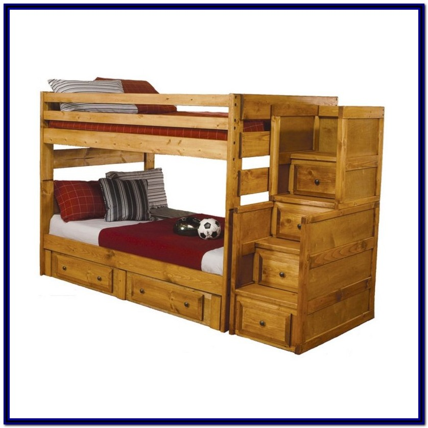 Full Over Full Bunk Beds Wooden