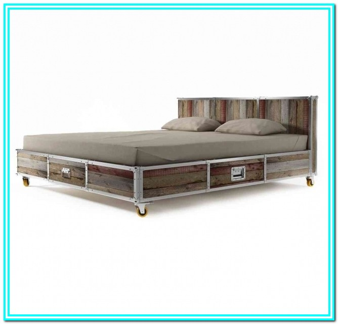 Full Platform Bed With Drawers Plans
