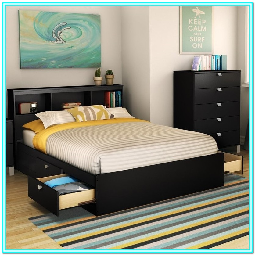 Full Size Bed Frame With Storage Walmart