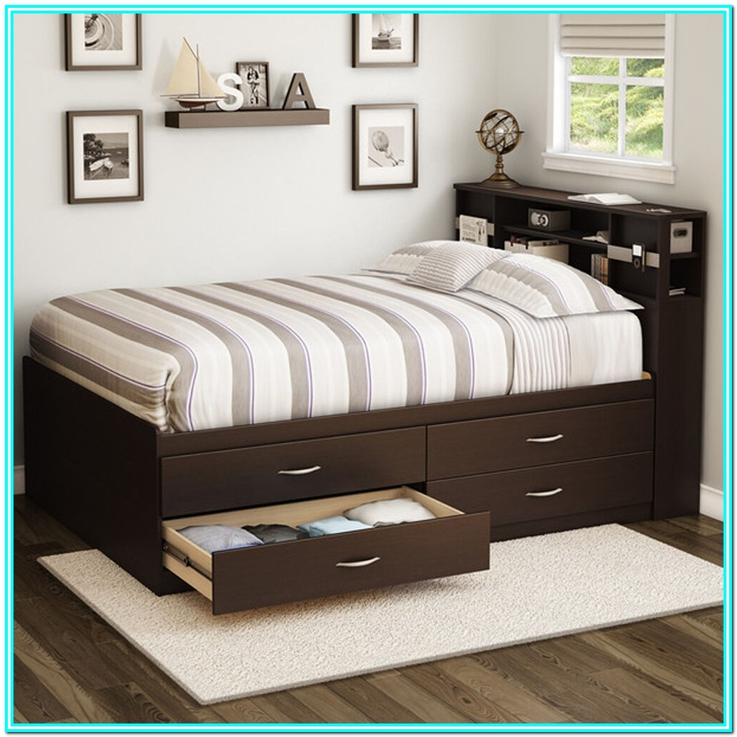 Full Size Bed Frames With Storage Drawers