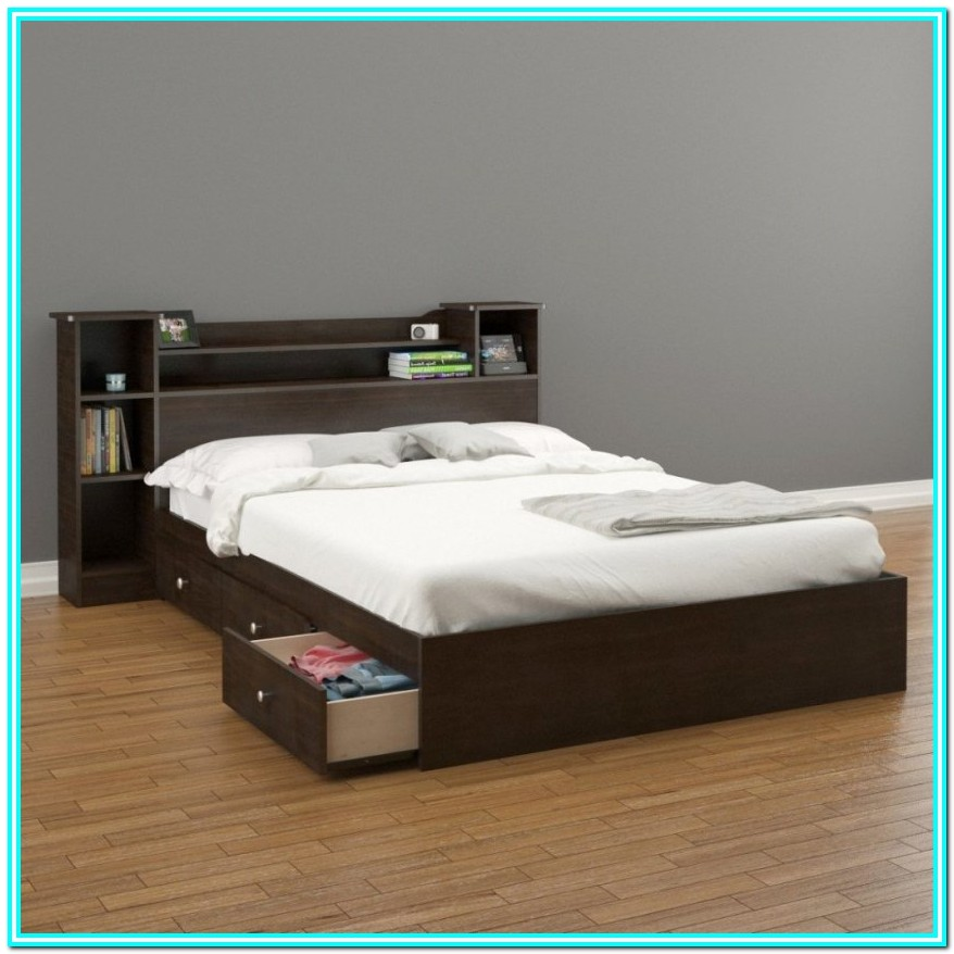 Full Size Bed With Storage Drawers Underneath