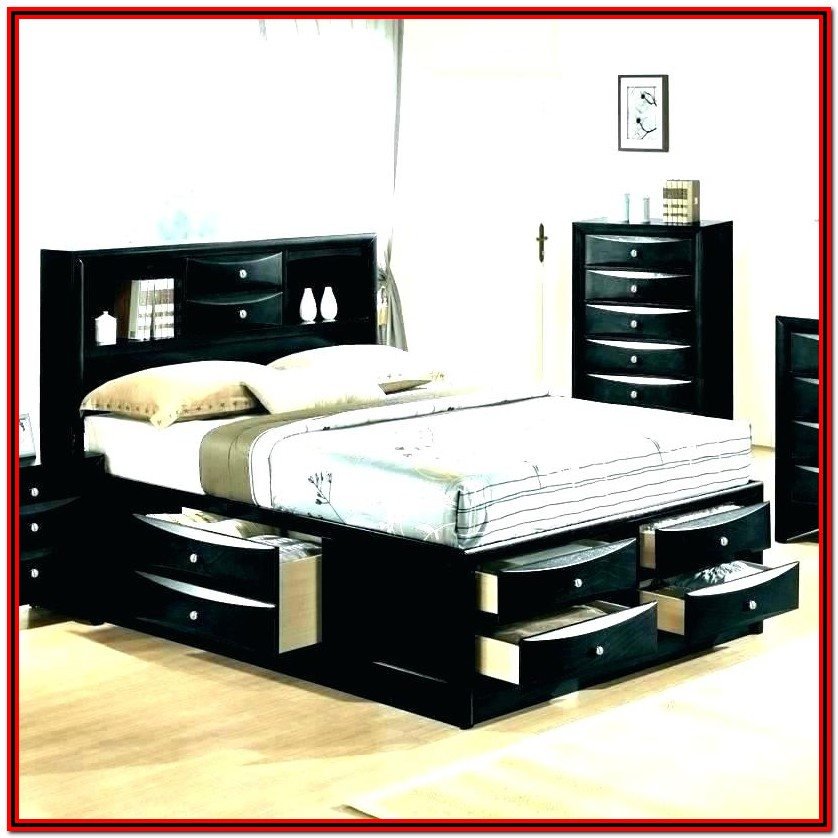 Full Size Bed With Trundle And Storage Drawers