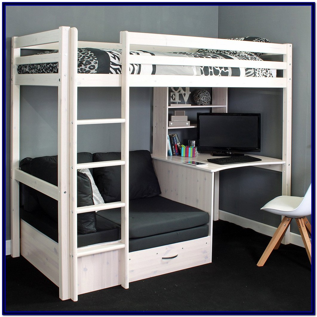Full Size Bunk Bed With Desk And Chair