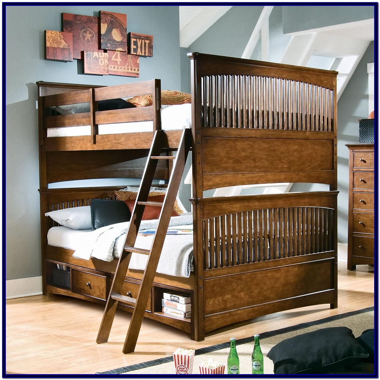 Full Size Bunk Beds With Steps