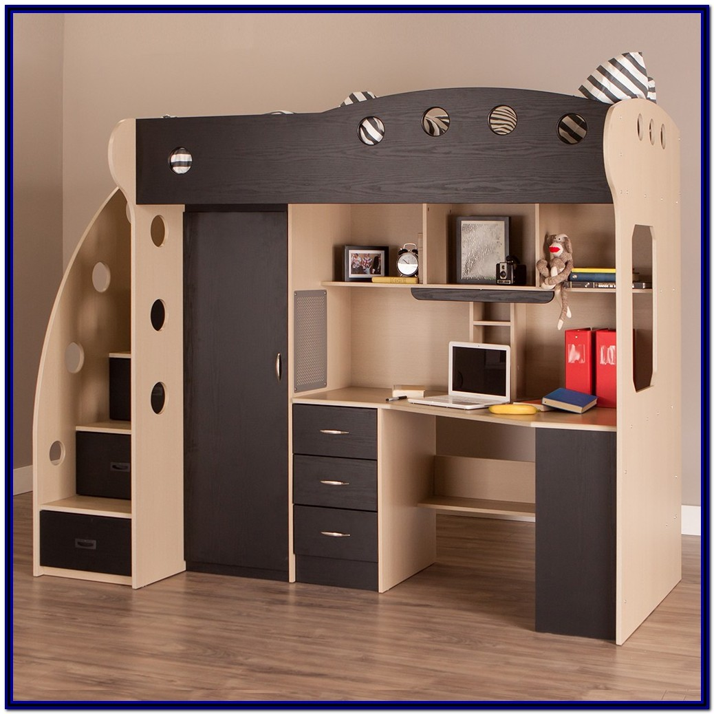 Full Size Loft Bed With Storage