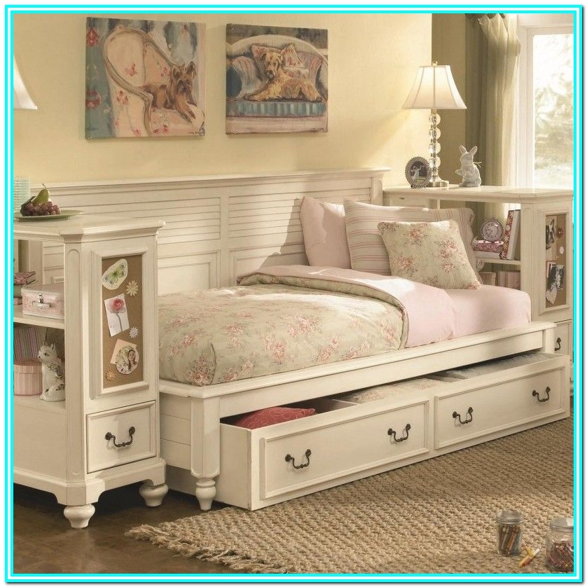 Full Size Storage Bed With 6 Drawers