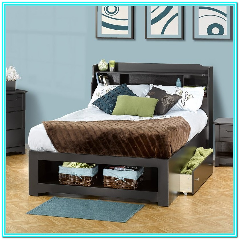 Full Size Storage Bed With Drawers On One Side