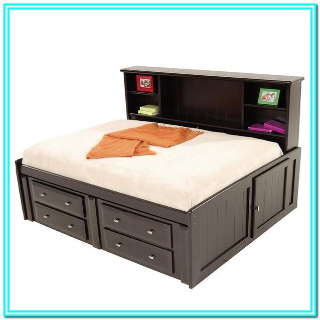 Full Size Storage Bed With Drawers Plans