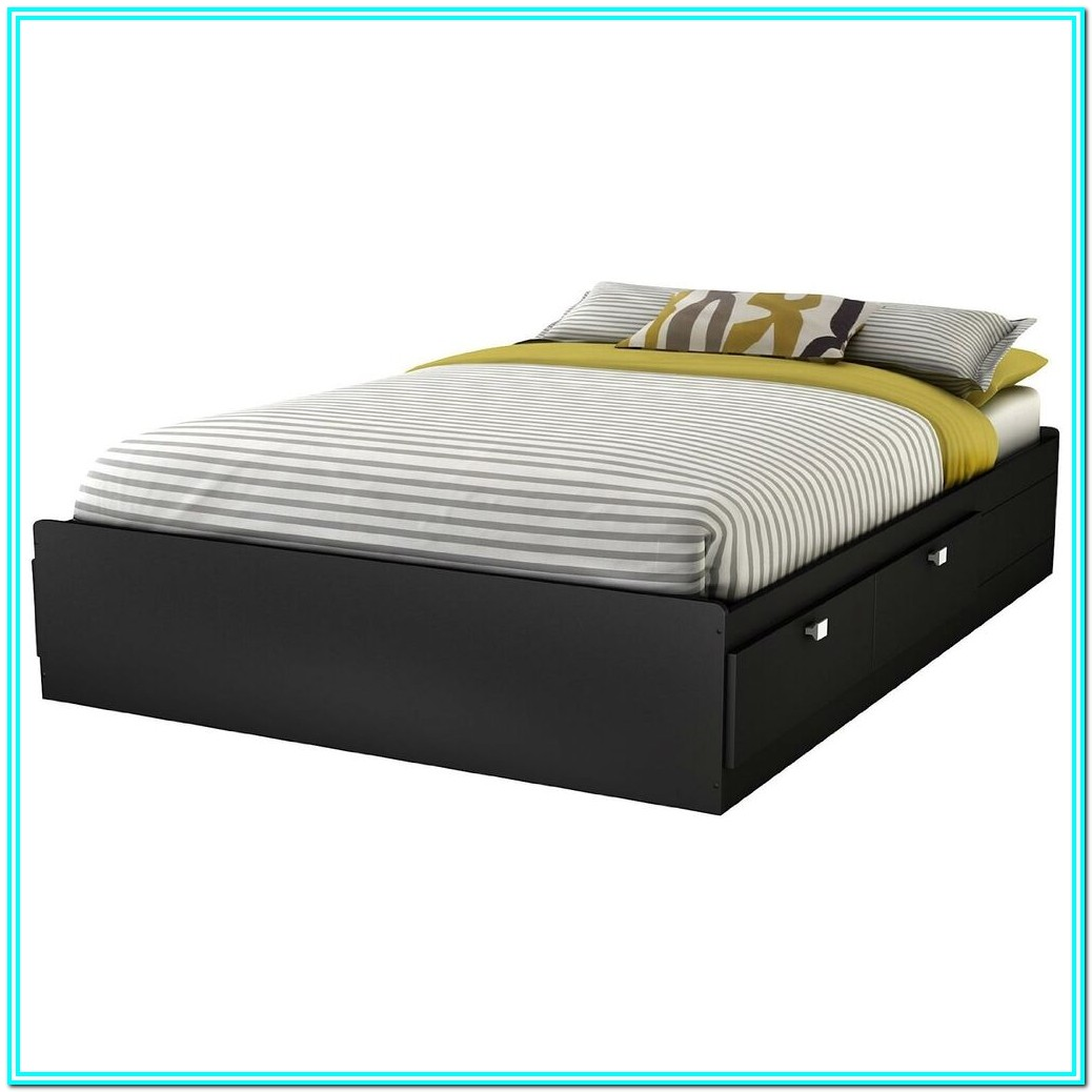 Full Size Storage Bed With Drawers