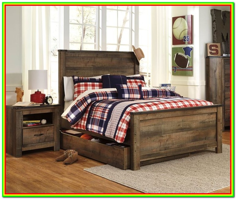 Full Size Trundle Bed Set