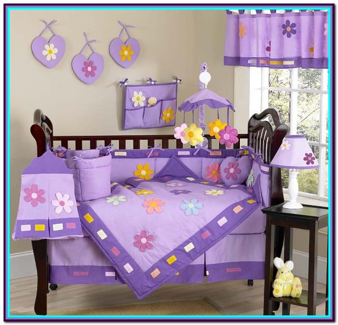 Girl Crib Bedding Sets Purple