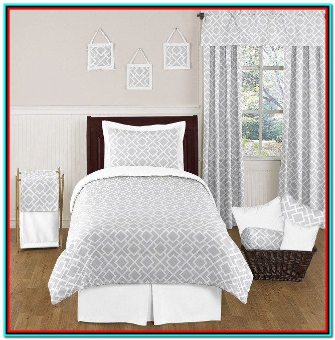 Grey And White Bedding Double