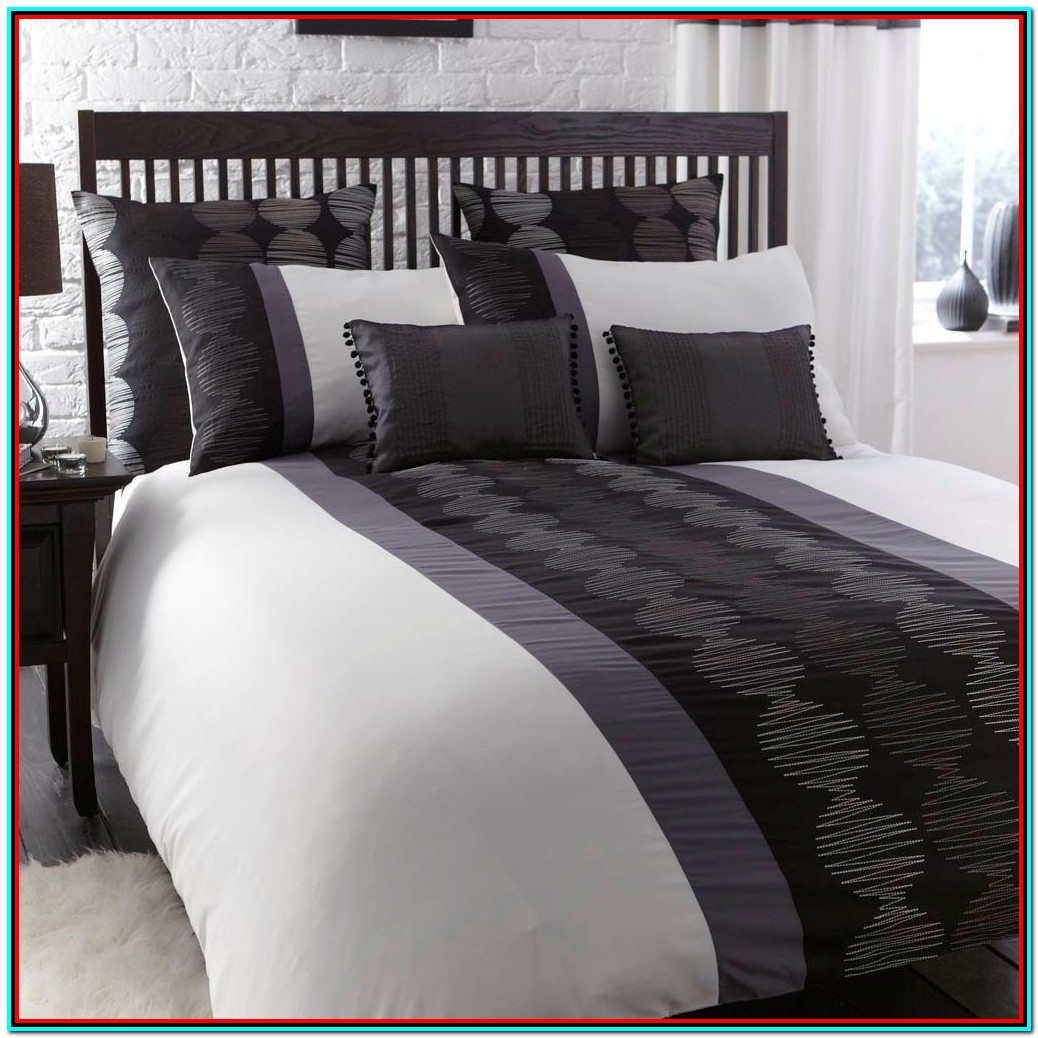 Grey And White Bedding Single