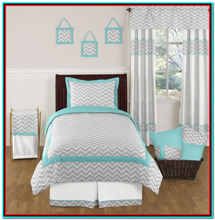 Grey And White Bedding Twin