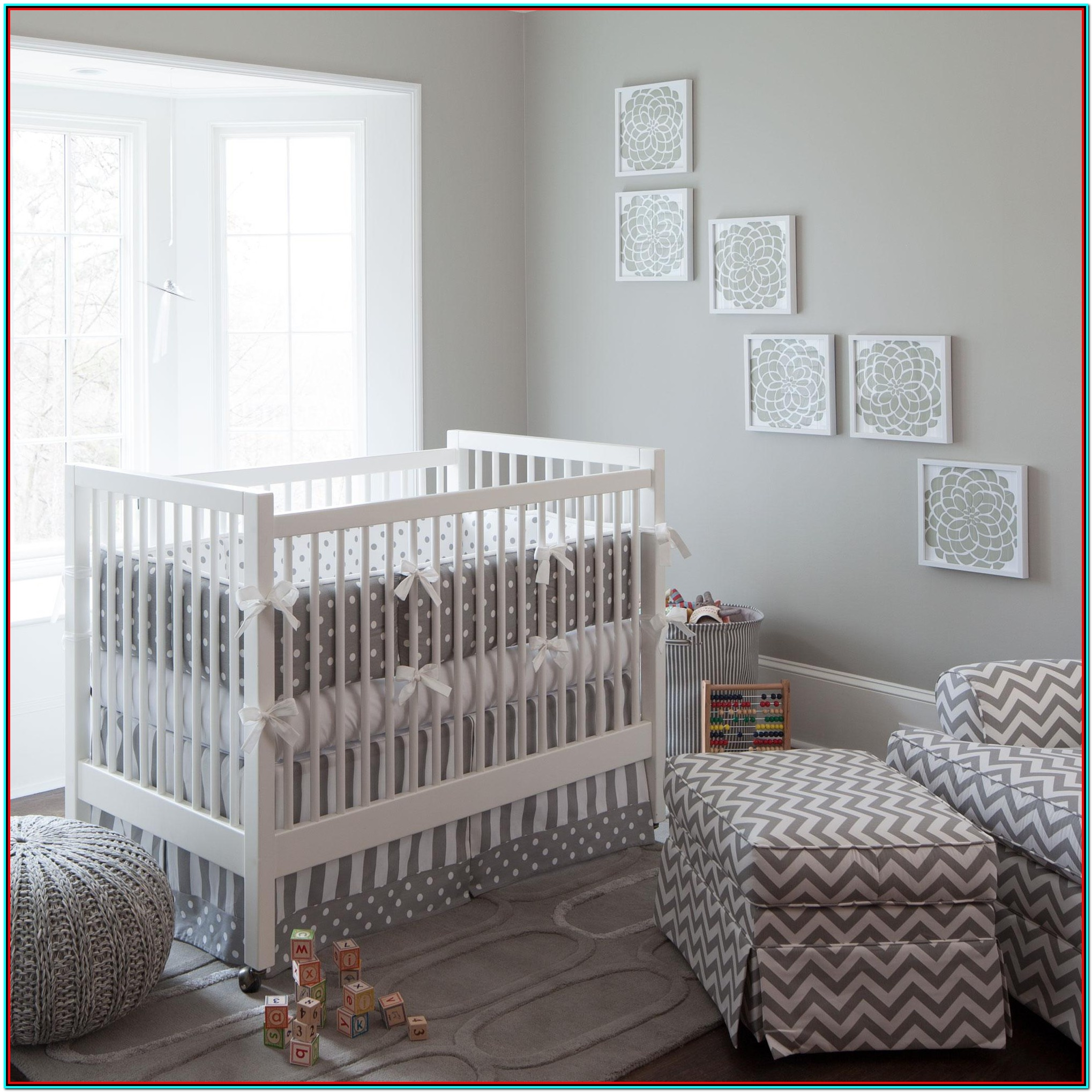 Grey And White Crib Bedding Sets