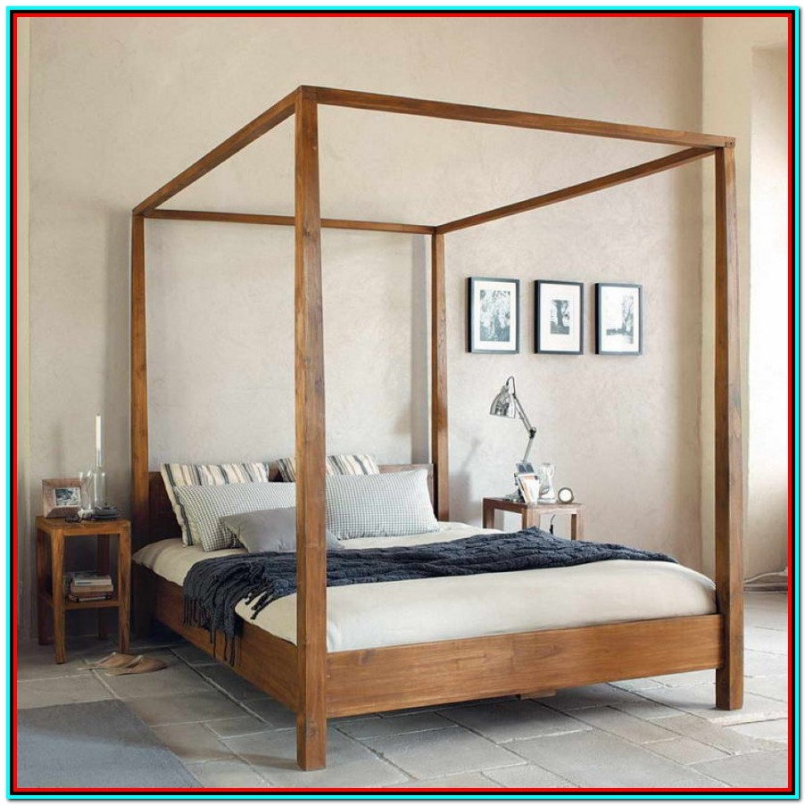 How To Make A King Size Canopy Bed Frame