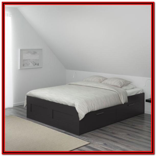 Ikea Black Bed Frame With Headboard