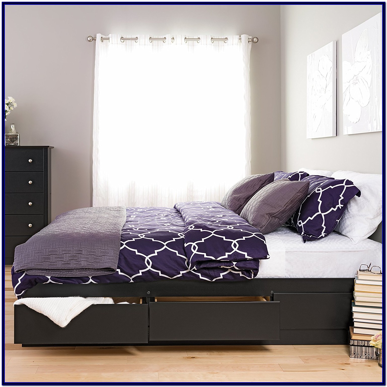 King Bed Frame With Storage Amazon