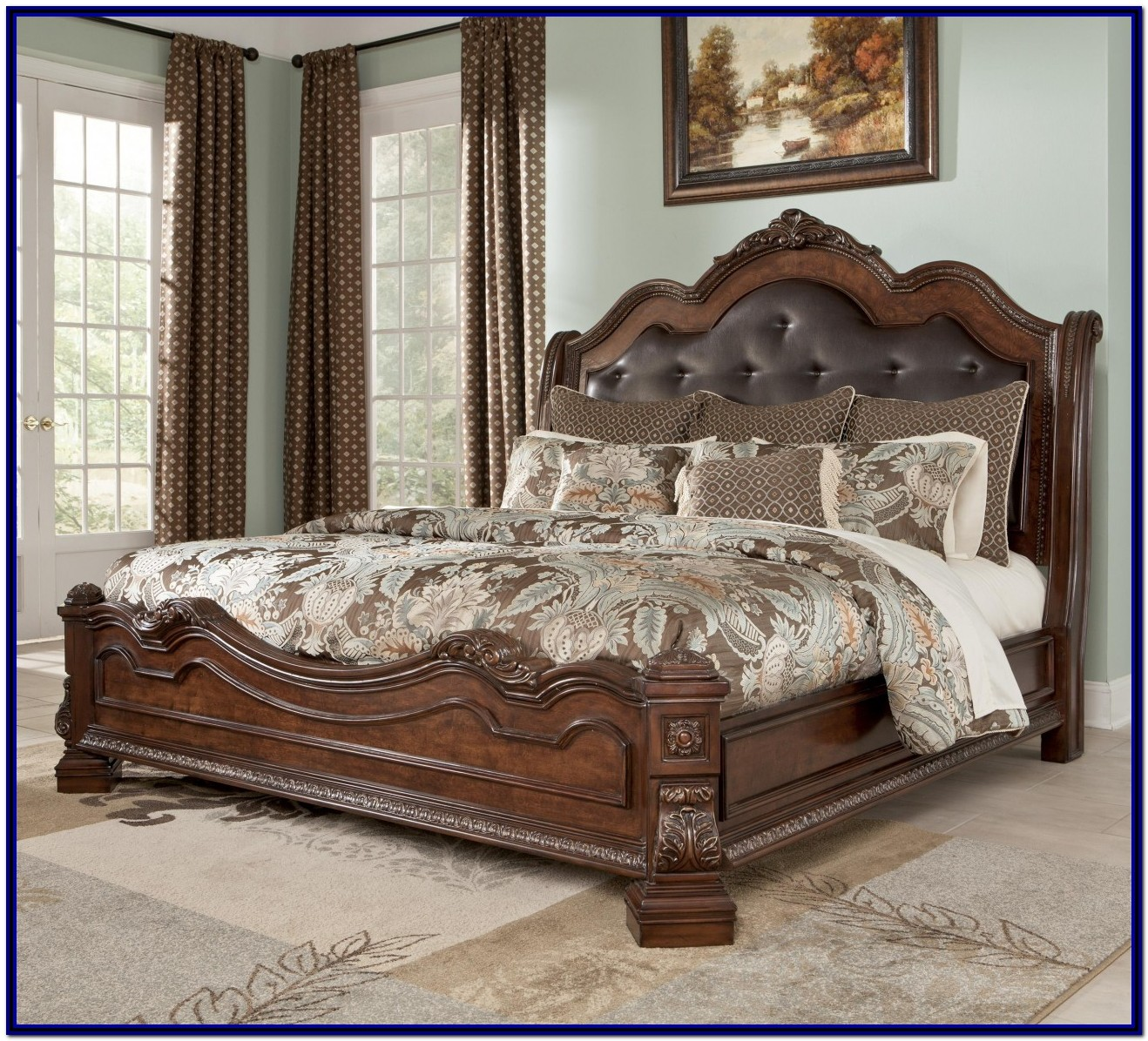 King Bed Frame With Storage And Headboard
