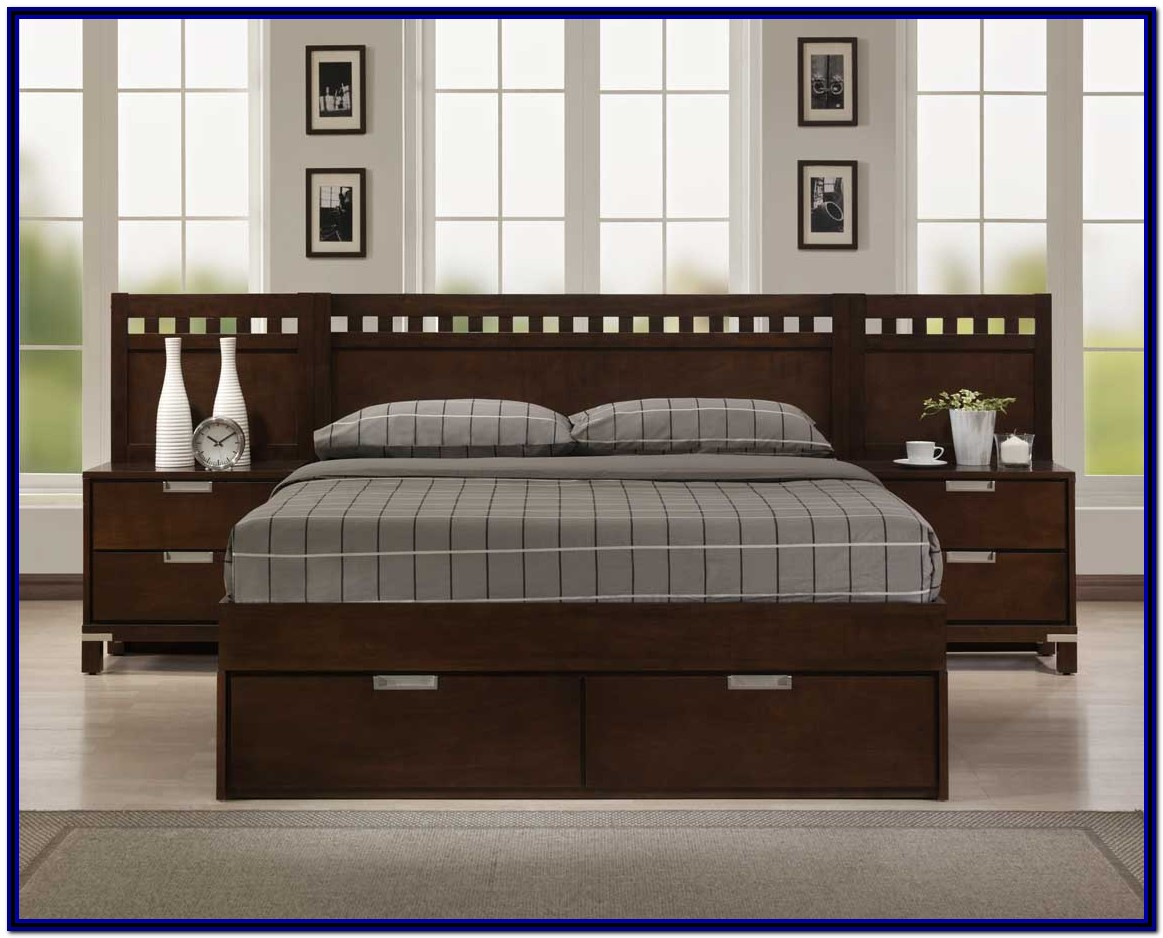 King Bed Frame With Storage No Headboard