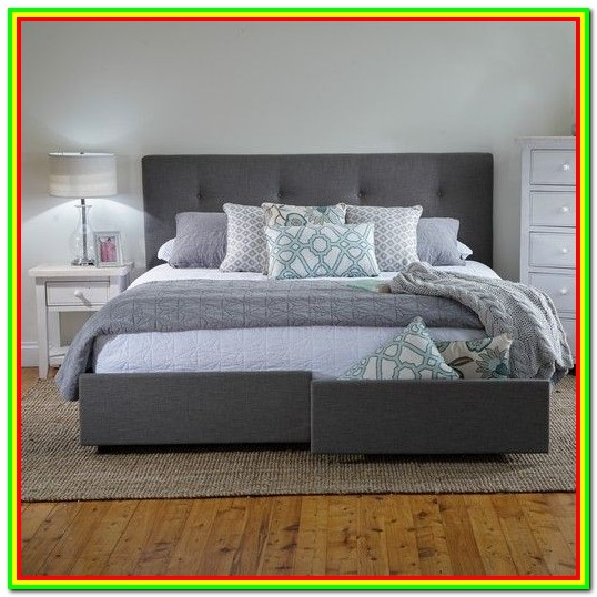 King Bed Frames With Storage Underneath