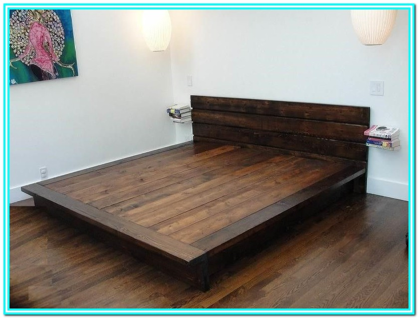 King Platform Bed With Storage Diy