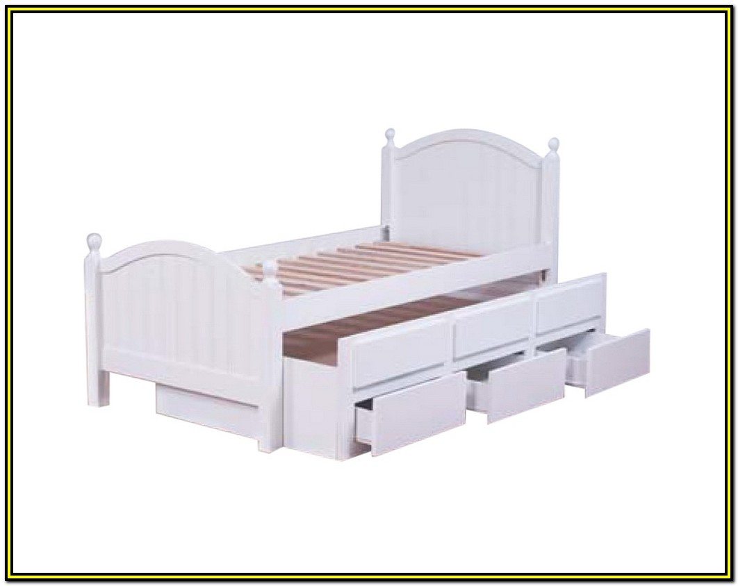 King Single Bed Frame With Drawers
