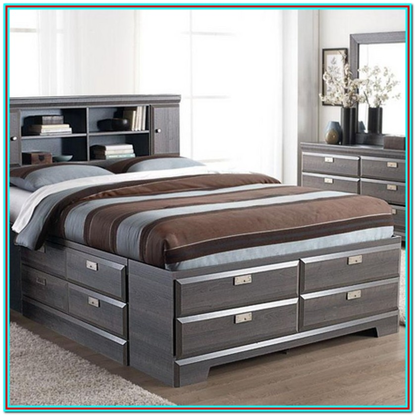 King Size Bed Frame With Drawers Canada