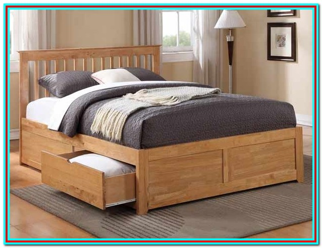 King Size Bed Frame With Drawers Under