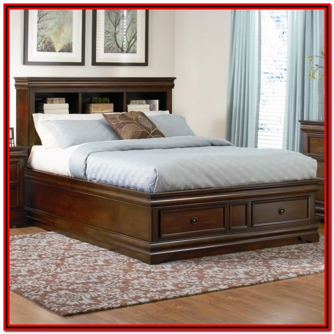 King Size Bed Frame With Headboard And Drawers