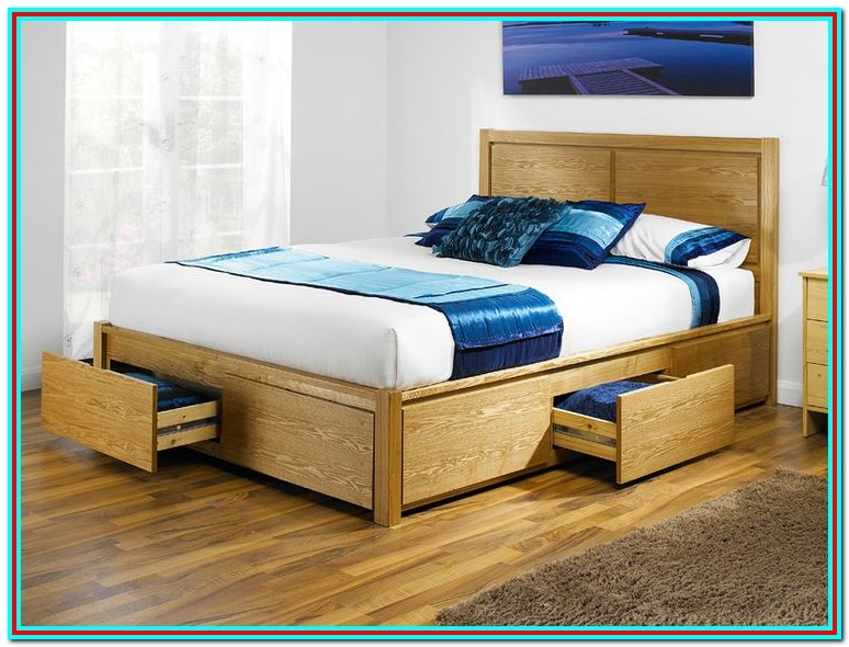 King Size Bed Frames With Drawers