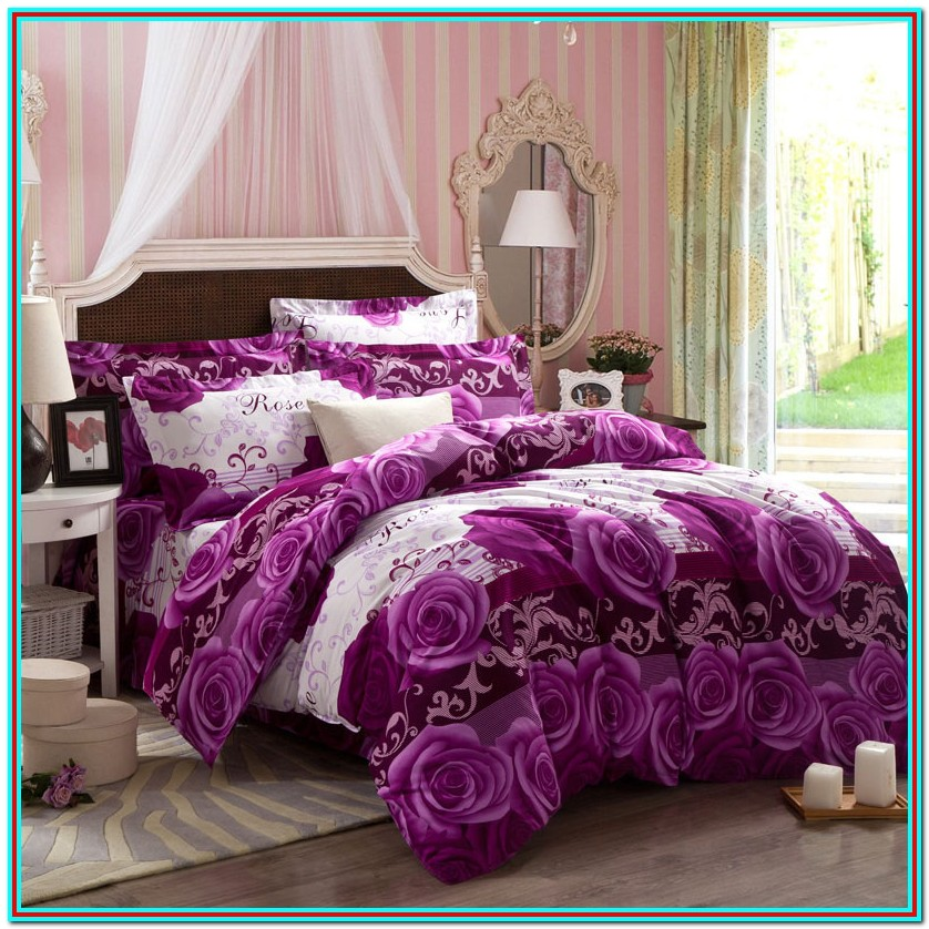 King Size Bedding Sets Purple