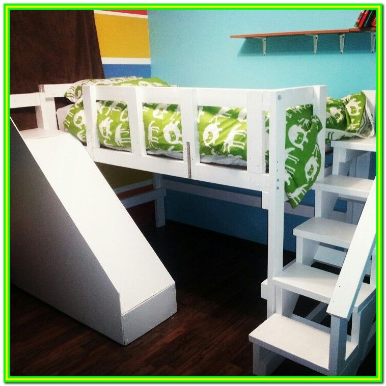 Loft Bed Plans With Stairs And Slide