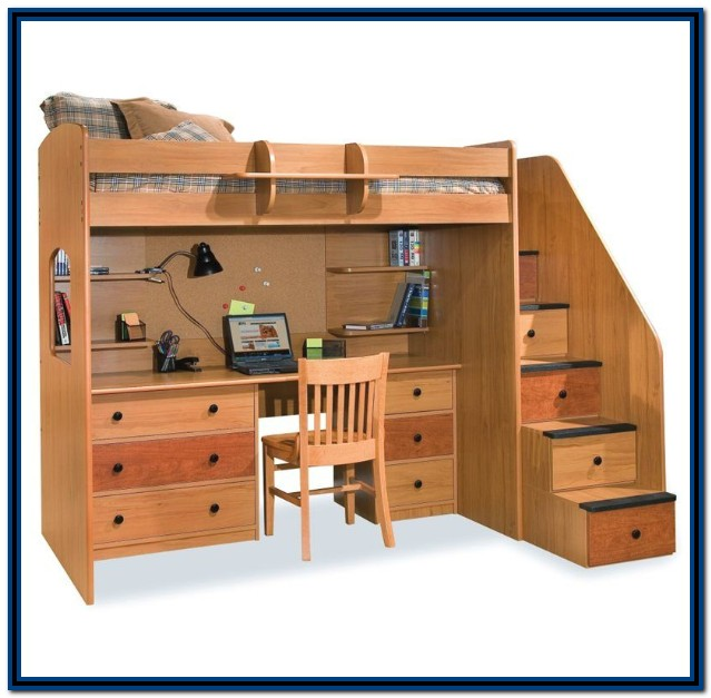 Loft Bed With Desk And Stairs Canada