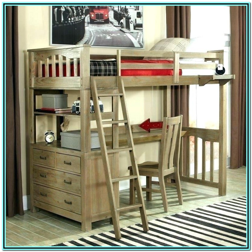 Loft Bed With Desk Canada