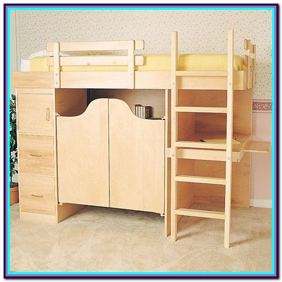 Loft Bed With Desk Woodworking Plans