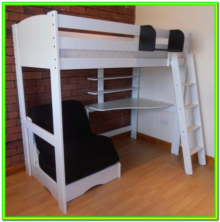Loft Bed With Sofa And Desk Underneath