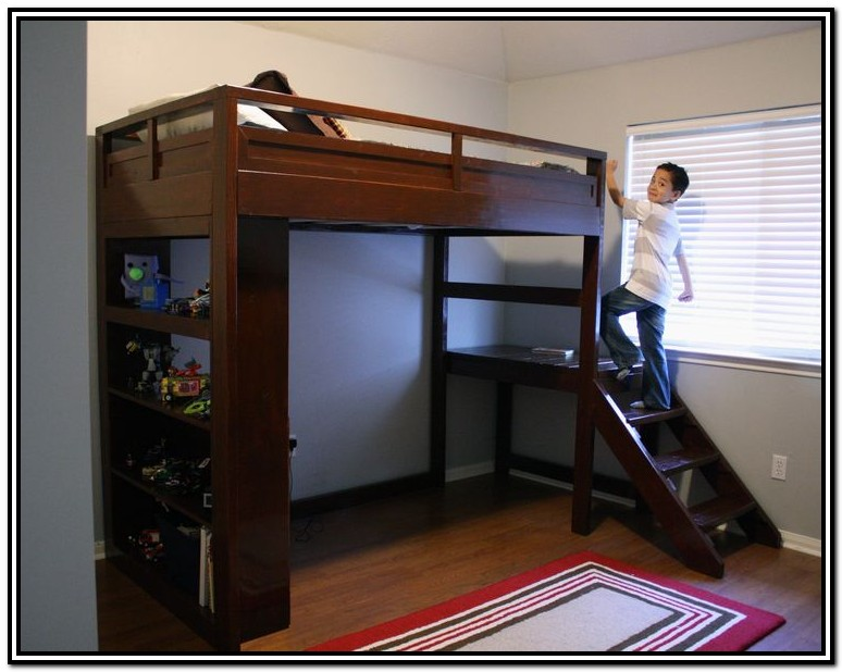 Loft Bed With Stairs And Desk Plans