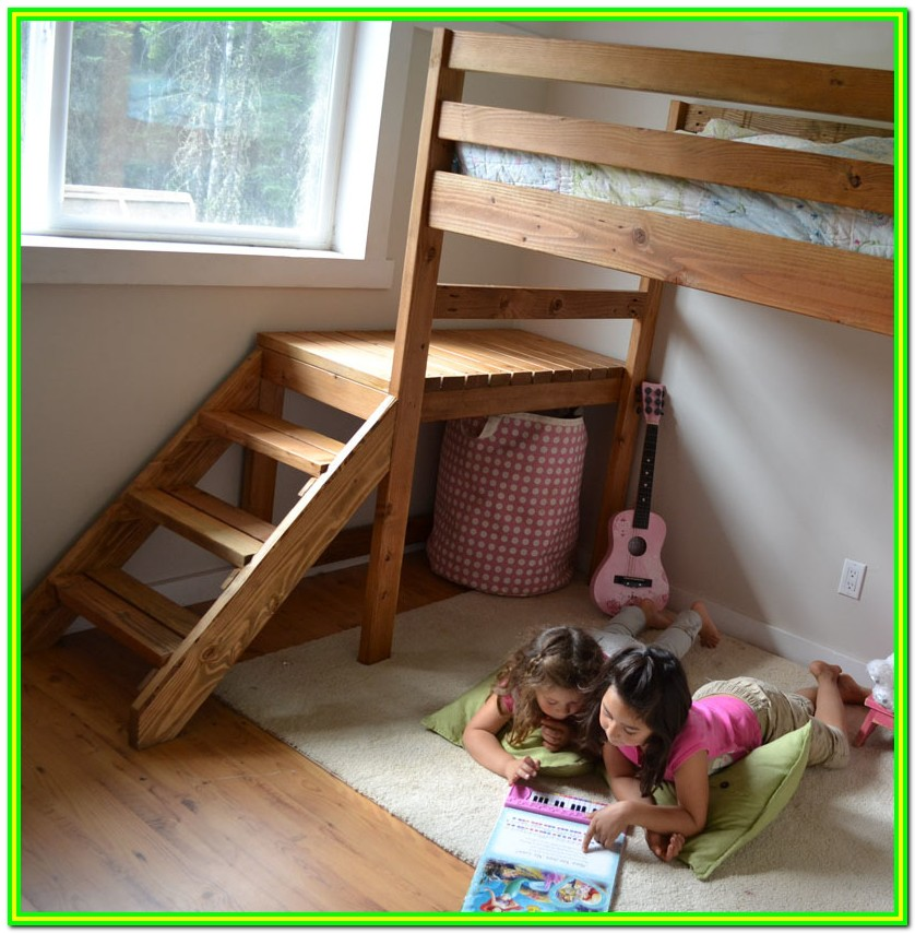 Loft Bed With Stairs Diy