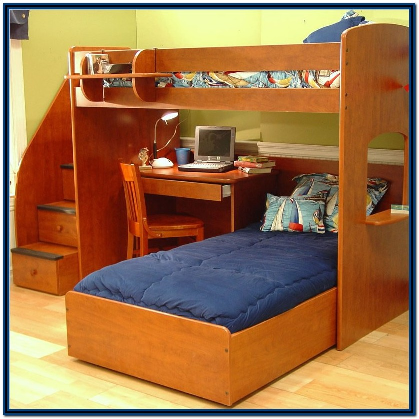 Loft Bunk Beds With Stairs And Desk