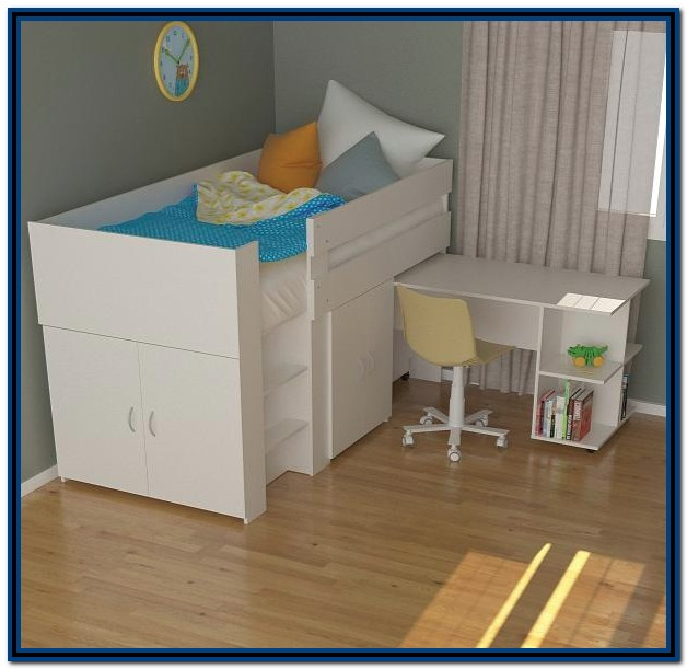 Low Loft Bed With Desk Australia