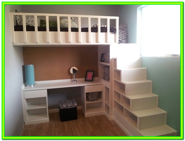 Low Loft Bed With Stairs And Storage