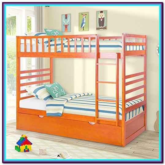 Merax Twin Over Twin Bunk Bed With Trundle Instructions