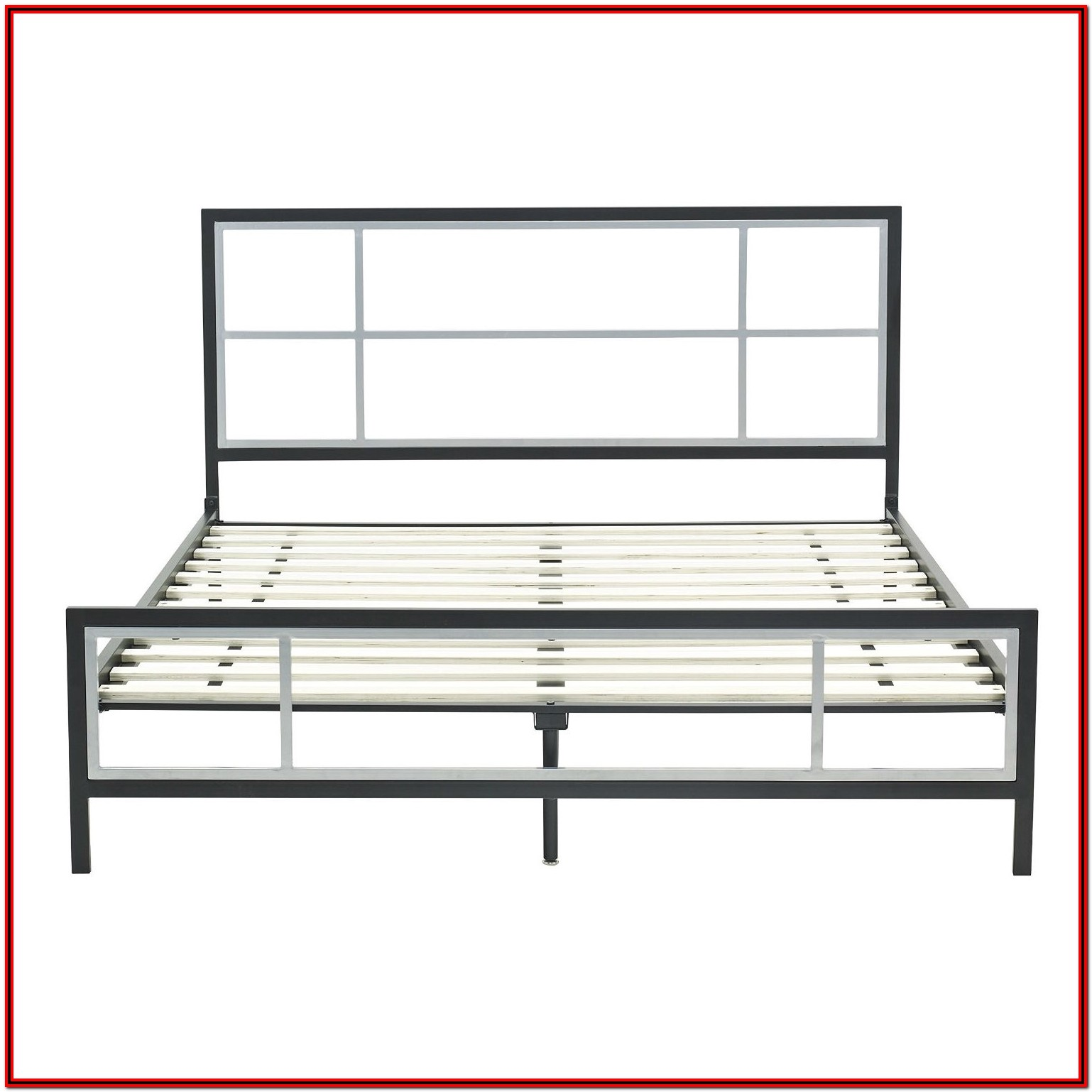 Metal Bed Frame With Headboard Queen