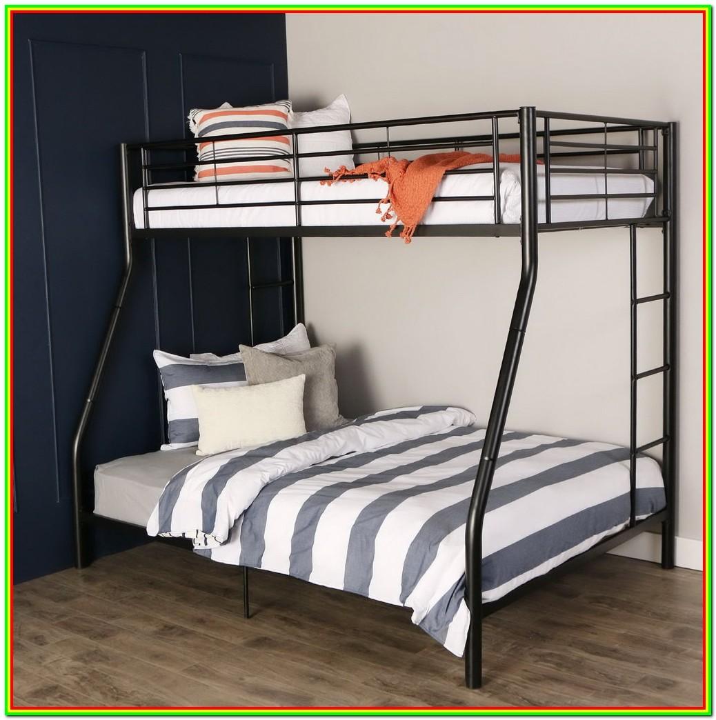 Metal Bunk Beds Twin Over Full Futon Bedroom Home