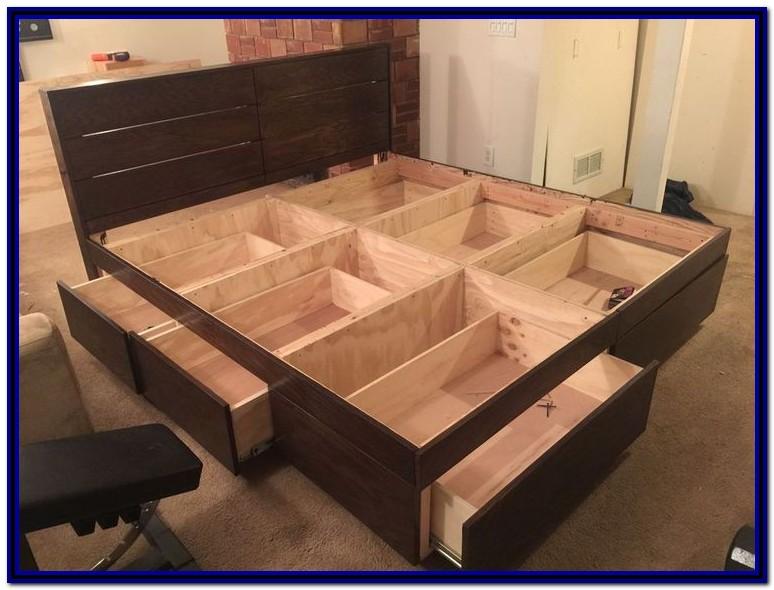 Platform Bed Frame With Storage Diy