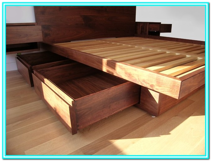 Platform Bed With Drawers Plans Free