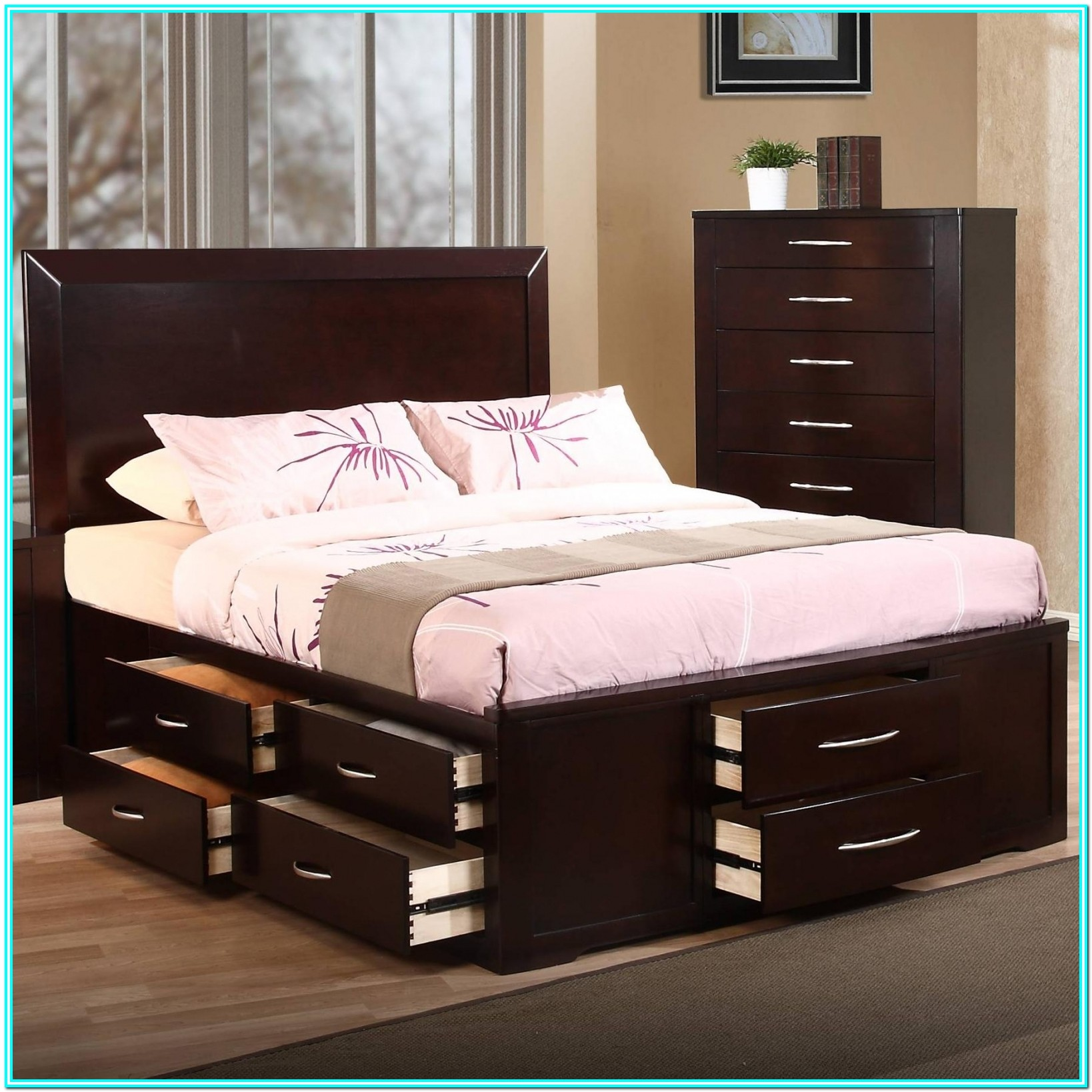 Platform Bed With Drawers Under