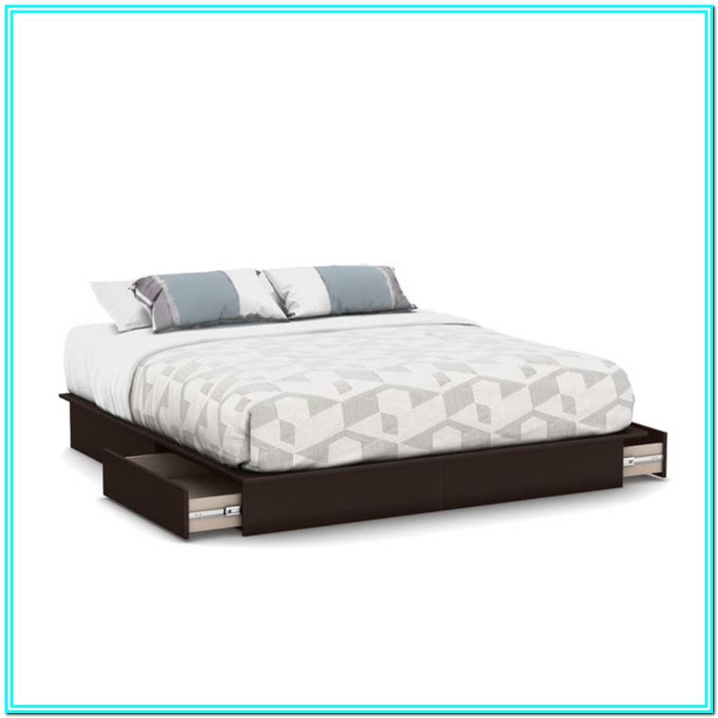 Platform Bed With Storage Drawers King