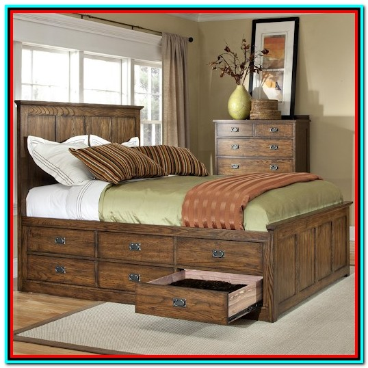 Queen Bed With Trundle And Storage Drawers